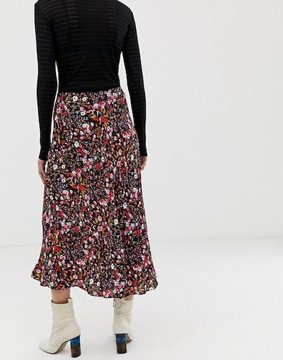 ホイッスルズ レディース スカート ボトムス Whistles floral meadow bias cut midi skirt