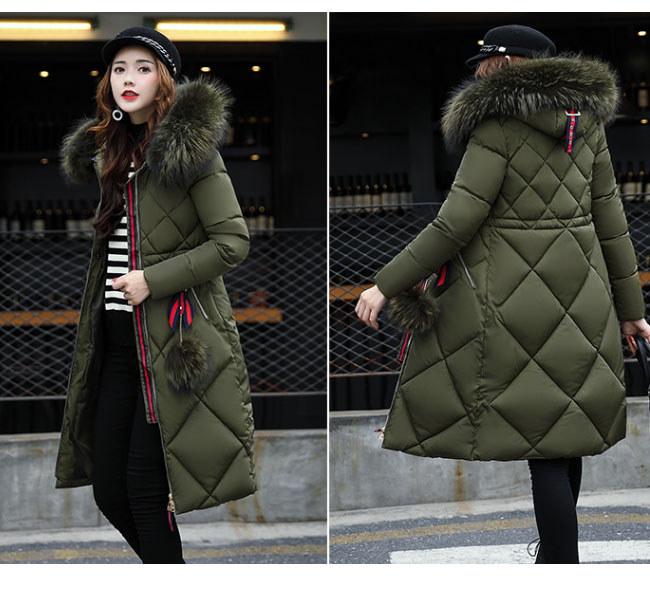 レディース服 大人 冬服 コート アウター ダウンコート ダウンジャケット お洒落 バックル フェイクファー 大きいサイズ ロング丈 ファッション 韓国風