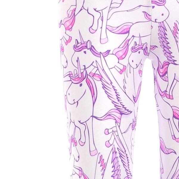 女性用フィットネスレッグ漫画ユニコーンデジタル印刷レギンスファッションスポーツパンツパンク