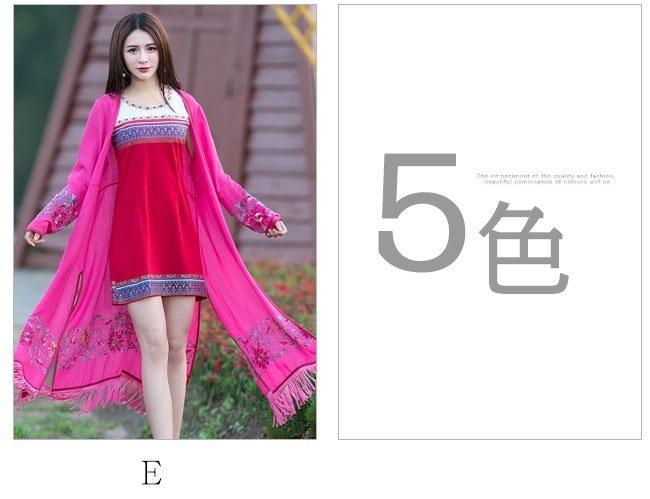 アウター コート トレンチコート レディース 女性 羽織 ロングコート オリエンタル 刺繍 個性 ビンテージ