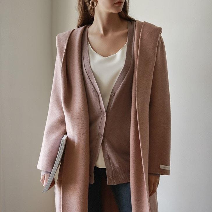 [CHICHERA]★送料無料★韓国ファッションサイトNo.1 / ハンドメートフード、ロングコート