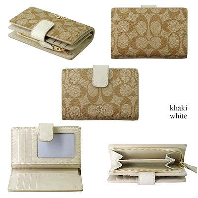 ファッションDAY限定♡在庫限り✨コーチ COACH 二つ折り財布 F53562 ラグジュアリー シグネチャー PVC ミディアム コーナー ジップ ウォレット アウトレット