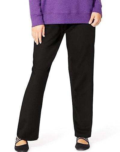ちょうど私のサイズComfortSoft EcoSmartフリースオープン裾レディーススウェットパンツ、平均長さ
