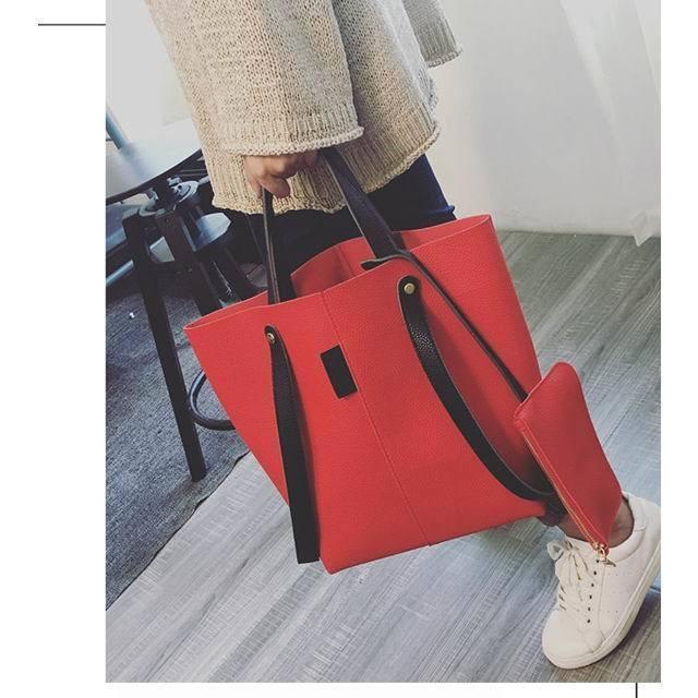 国内発送/即納 トートバッグ バッグ レディース 合皮 大容量 通学 通勤 シンプル カジュアル 新作韓国ファッション 韓国
