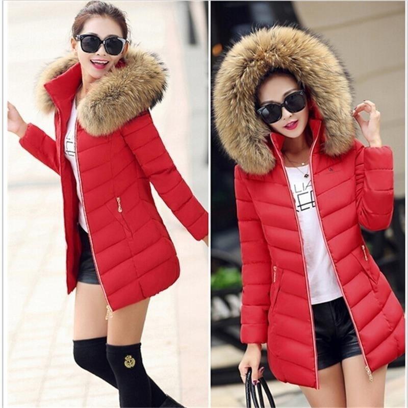 ホットな新暖かい秋冬ジャケット女性2016ファッション女性のコート厚いフーディ冬のコートスリム女性パーカー暖かい女性のダウンジャケット