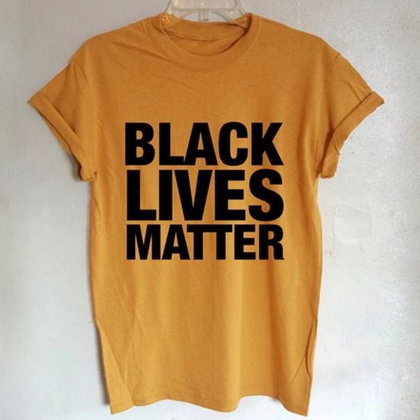 BLACK LIVES MATTER Printed round neck short sleeve women s T-shirt