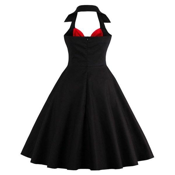 女の子ファッションヴィンテージ1950年代ロカビリー蝶ルナレトロセレニティ50秒スウィングドレス