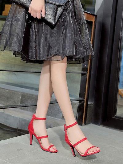 Women s Shoes Simple Design Glamorous Solid Color Zipper Stiletto Sandals