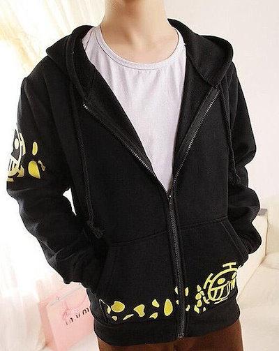 ONE PIECE  - トラファルガー・ローコスプレ衣装コットンフード付きの服のコート