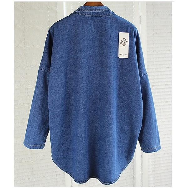 テーラードカラー デニムジャケット アウター Gジャン コート ジーンズ レディース 秋 冬 春 新作 大きいサイズょっと長めの丈がかわいいデニムジャケット♪