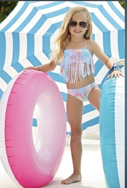 2本の子供の赤ちゃんの女の子水着水着水着TankiniビキニセットBeachwear