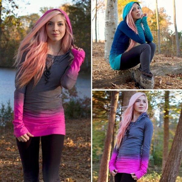 女性フード付きセータープルオーバー長袖セータープラスサイズ