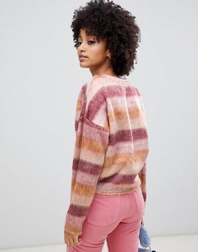 ニュールック レディース ニット・セーター アウター New Look textured sweater in stripe