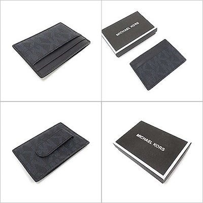 マイケル コースMICHAEL KORS マイケルコース アウトレット シグネチャー PVC レザー  カード ケース 箱付き 36T8LMND6BBB