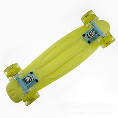 22インチ標準スケートボードPP(ポリプロピレン)アルミニウム合金PU ABEC-7-パープルイエローブルーBlushin