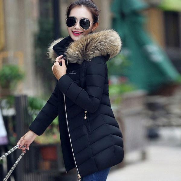 XXS-XXXLウィメンズジャケット女性用コートファーカラー女性用スリムコートオーバーコート