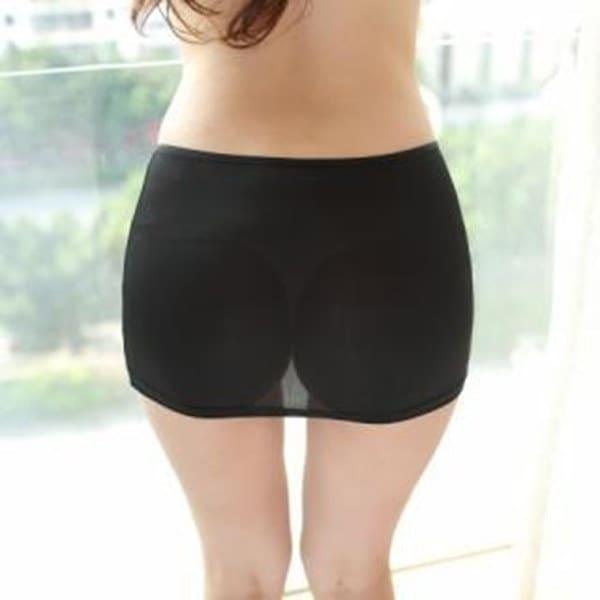 女性のファッションセクシーなシースルー超薄型ショートスカートアイスシルクキャンディーカラースリムスカート