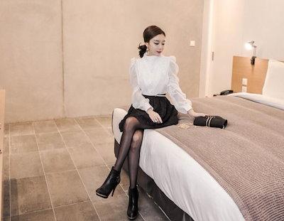 ショート丈 ドレス セットアップ エレガント シフォン パーティー 結婚式 二次会 お呼ばれ(B380)