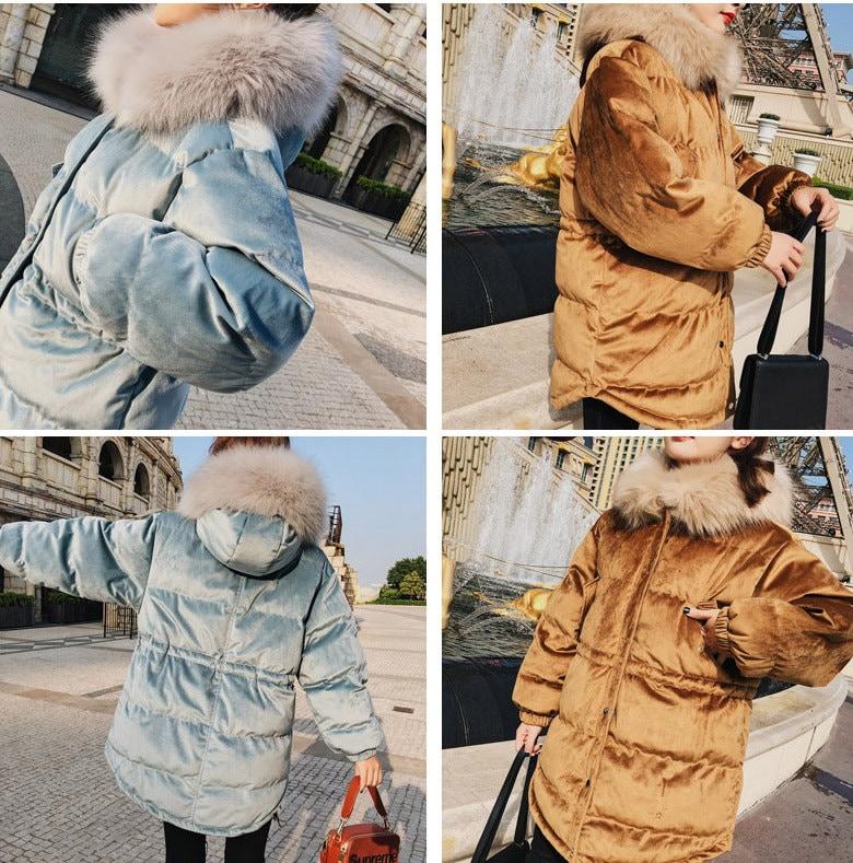 ベロア素材 レディース  防寒  フード付きコート  冬服  大きいサイズ アウター ロングコート カジュアル    あったかい ブルー、カラメル色