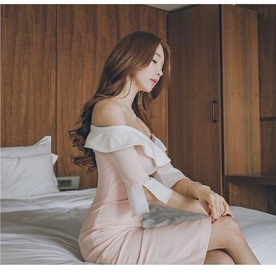 ワンピース パーティードレス 韓国ファッション パーティードレス ドレス オルチャンファッション オルチャン レディース 二次会 結婚式 結婚式 ワンピース ワンピース パーティードレス