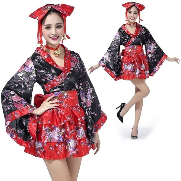 女性アニメコスプレ衣装着物着物日本ロリータメイド制服
