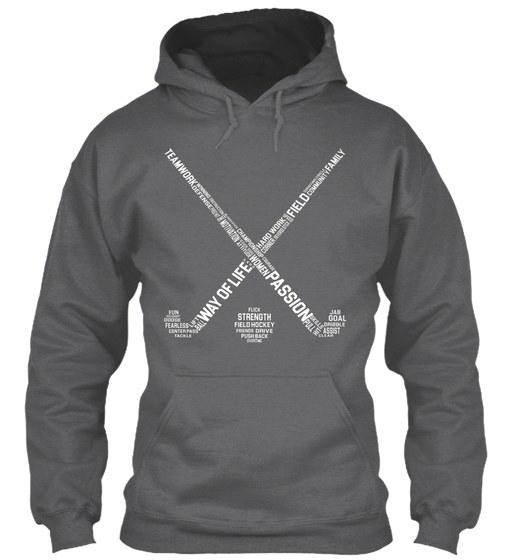 フィールドホッケーの言葉T、Gildan Hoodieのスウェットシャツ
