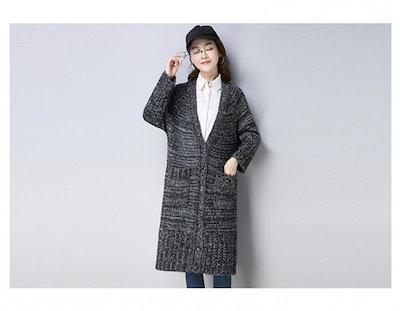 2018秋新作!ロングニットカーディガン