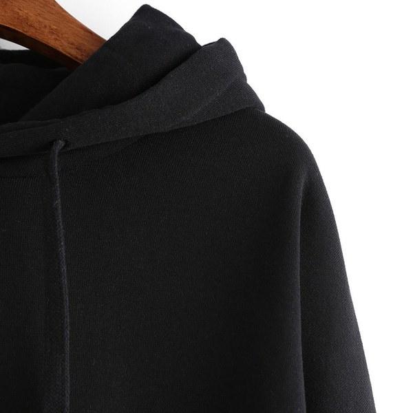 2017秋冬ファッション女性シックな刺繍ストライプロングスリーブカジュアルパーカースウェットプラス