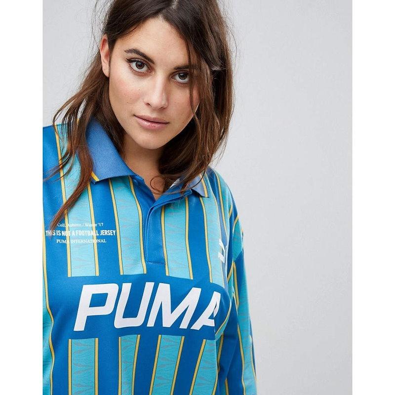 プーマ レディース トップス【Puma Exclusive To ASOS Plus Football Jersey In Blue】Blue