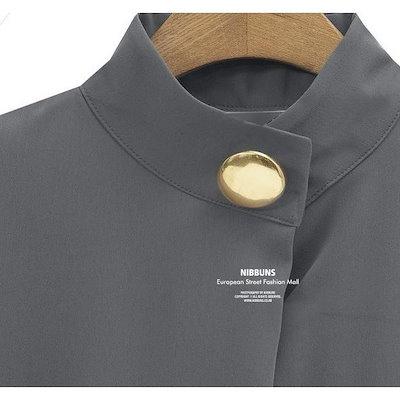 シャツ ブラウス 白 長袖 スタンドカラー シンプル 無地 レディース トップス