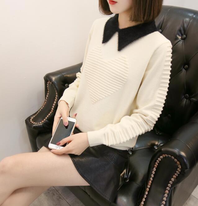 [55555SHOP]新品女装欧米風ファッションクルーネックジャカードニットゆる百搭 ニットセーター メリヤス ルーズトップス 長袖セーター ベーシック