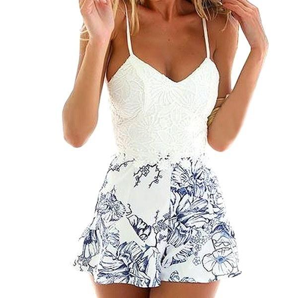 Women s Sexy Mini  Shorts Playsuit Ladies Jumpsuit Summerwear