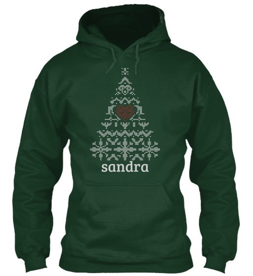 Sandra Christmas Tree Gildan Hoodie Sweatshirt