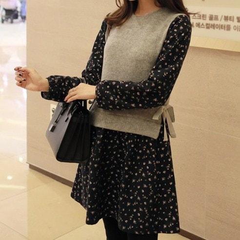 [ClicknFunny] Dress style bride dress One-piece midi dress (knee length) Korean fashion style