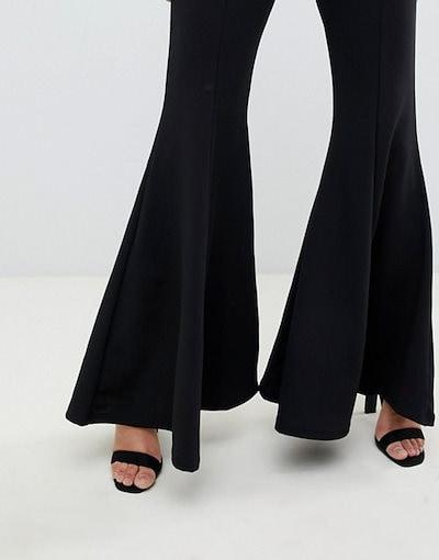 クラブエル レディース カジュアルパンツ ボトムス Club L extreme flare leg pants in black