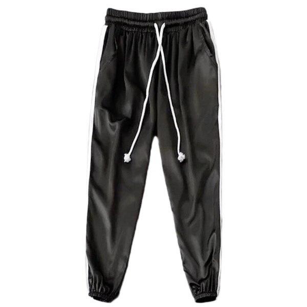 Women s Silk Satin Pajamas Pants Sport Casual Pink Pants