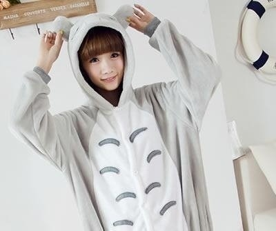 KIGURUMI Cosplay Romper Charactor animal Hooded Kigurumi Pajamas Pyjamas Costume sloth Onesie outfit Sleepwear -Totoro