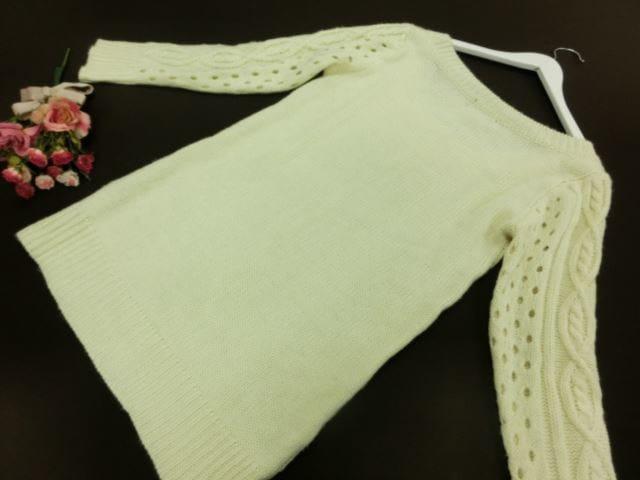 美品♪ Rojita/ロジータ 長袖 丸首 ニットセーター M オフホワイト【中古】