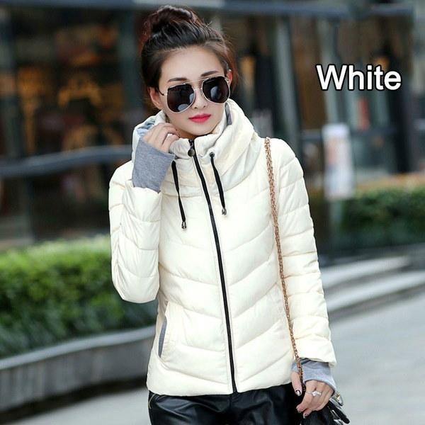 ファッションウィメンズジャケット女性パーカーシックアウターウェアダウンコートショートコットンパッディングジャケットとコート(Si