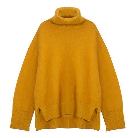[55555SHOP]☆トップス/ニットウェア/パフスリーブ/セーター/長袖/レディース/秋冬/韓国ファッション