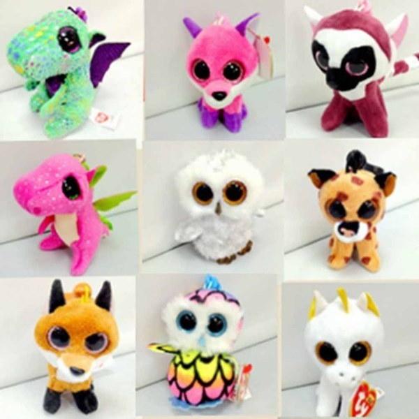 新しいファッション10センチメートルかわいいTYビーニーBoos Unicorn Owlブルータグぬいぐるみの人形おもちゃのギフト(サイズ: