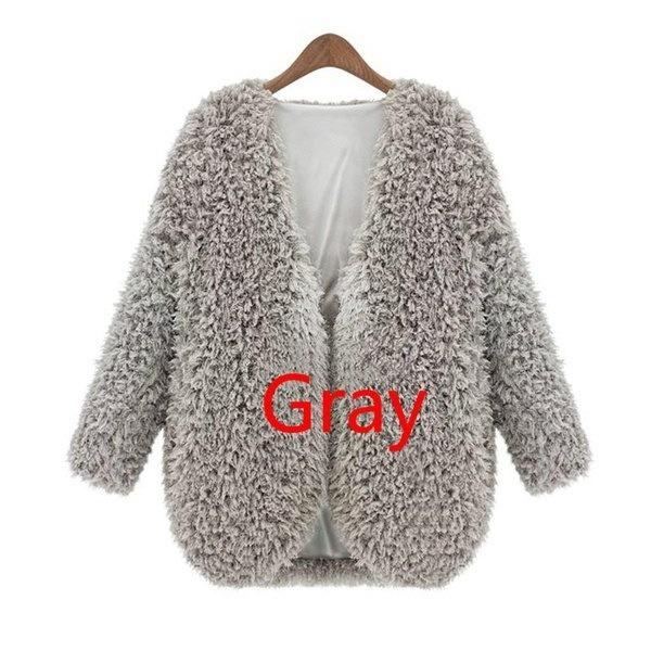 Women s Lady Fluffy Shaggy Faux Fur Cape Coat Jacket Winter Outwear Cardigan Tops WU6278