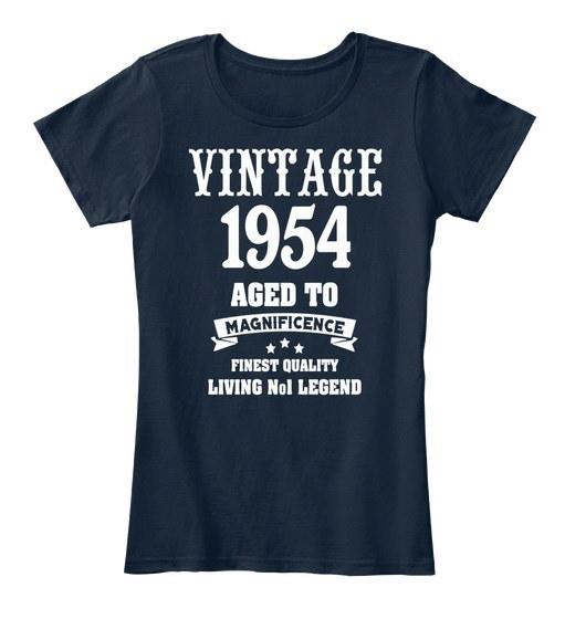 ヴィンテージ1954年面白い63歳の63歳の誕生日ギフト女性のプレミアムティーTシャツ