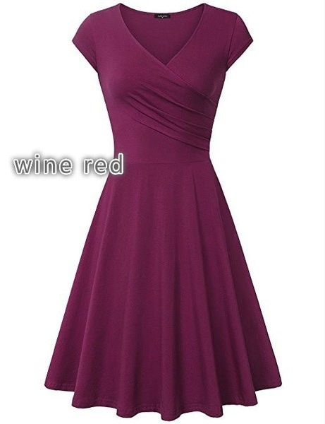 セクシーなスリムフィットセクシーなエレガントな女性のドレスプラスサイズソリッドカラーフィットとフレアドレス