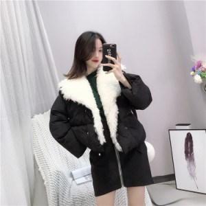 ダウンジャケットコート 3色 ピンク ホワイト ブラック ボア 可愛い キュート ガーリー 甘系 ショート丈 秋冬 ふんわり ふわもこ 新作