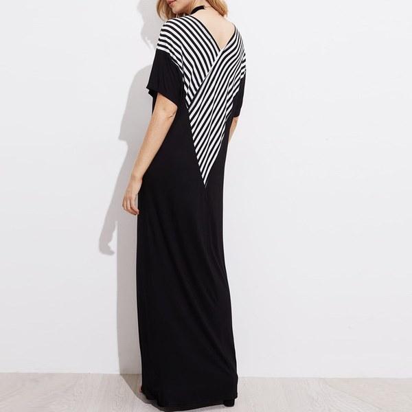SML XL 2XL 3XL 4XL 5XL 2017新ファッションBoho女性カジュアルルーズロングマキシシャツドレスシャツドレス