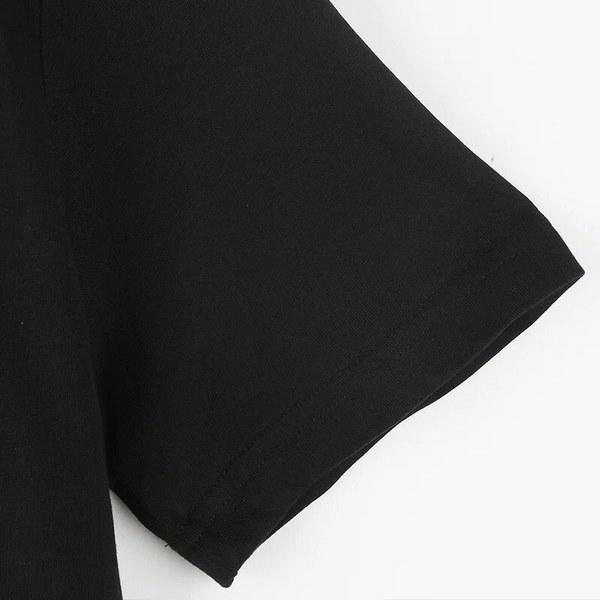 2016年女性夏ニューパンクスタイルストリートウェアXOプリントTシャツ原宿カジュアルプリントTeesXO