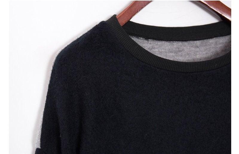『韓国製』SELLISHOP  Monotone ワンピース「大きいサイズ 大人 韓国 ファッション・結婚式・フォマール 黒 フレア 30代 40代 50代 スレンダー・Aライン,シャツ・上品・ロング