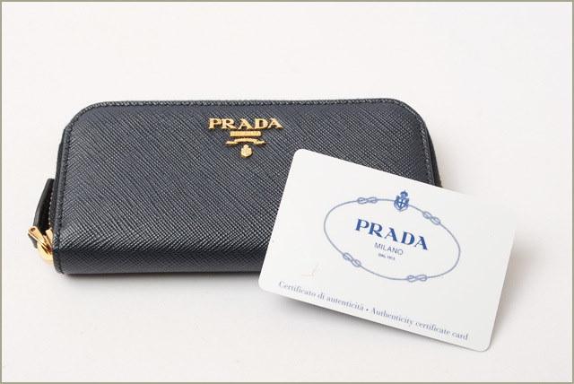 プラダ キーケース PRADA 6連 1PG604 SAFFIANO MEYAL/サフィアノ BALTICO/ネイビー 未使用【中古】