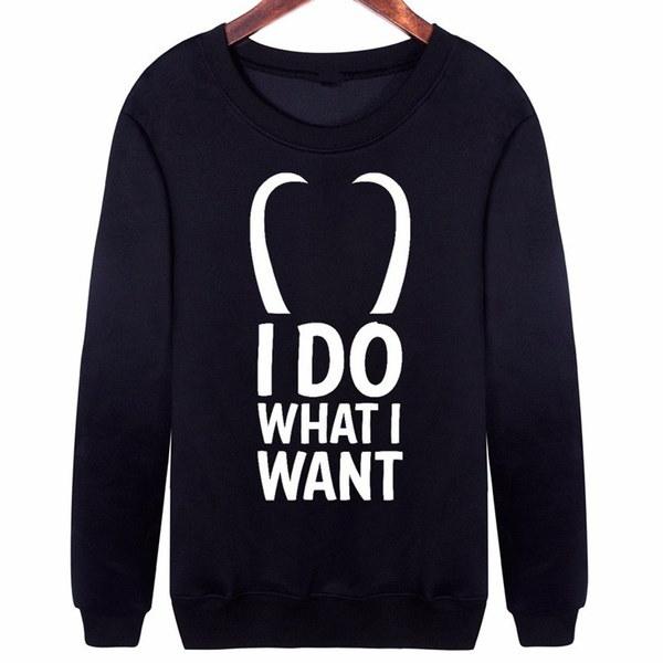 原宿スタイルアベンジャーズロキスエットシャツ私はプルオーバーが欲しいものをやっていますファッション新しいトップス女性ロングスリーブ